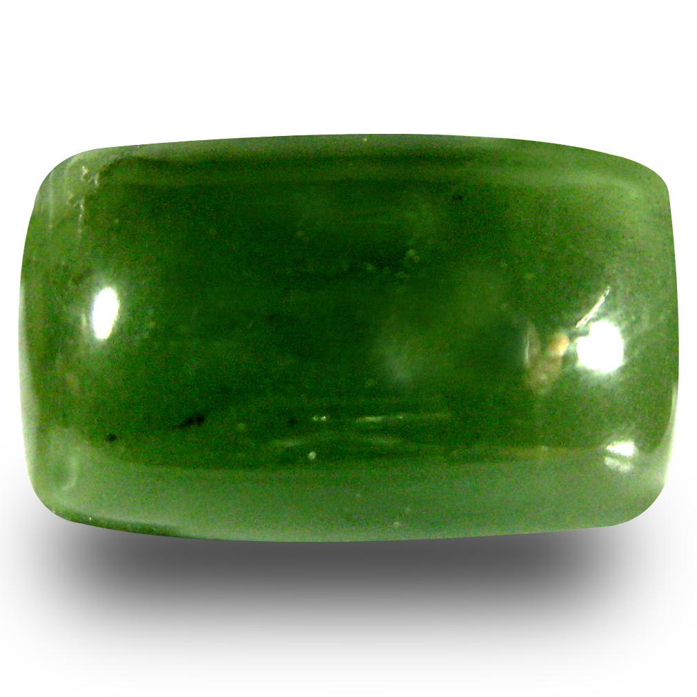 19.48 ct Mesmerizing Cushion Cabochon Cut (21 x 13 mm) Olive Green Un-Heated Serpentine Natural Gemstone