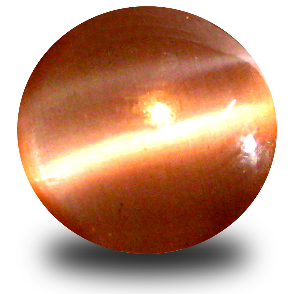 2.62 ct Mind-Boggling Round Cabochon Cut (9 x 9 mm) Grayish Brown Sillimanite Cat's Eye Loose Stone