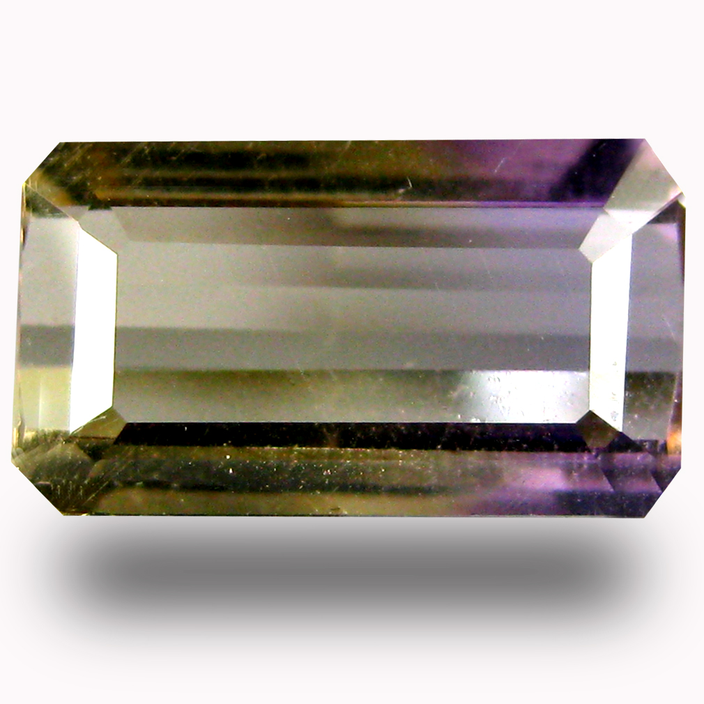 1.55 ct AAA Valuable Octagon Shape (10 x 6 mm) Purple and Yellow Ametrine Natural Gemstone