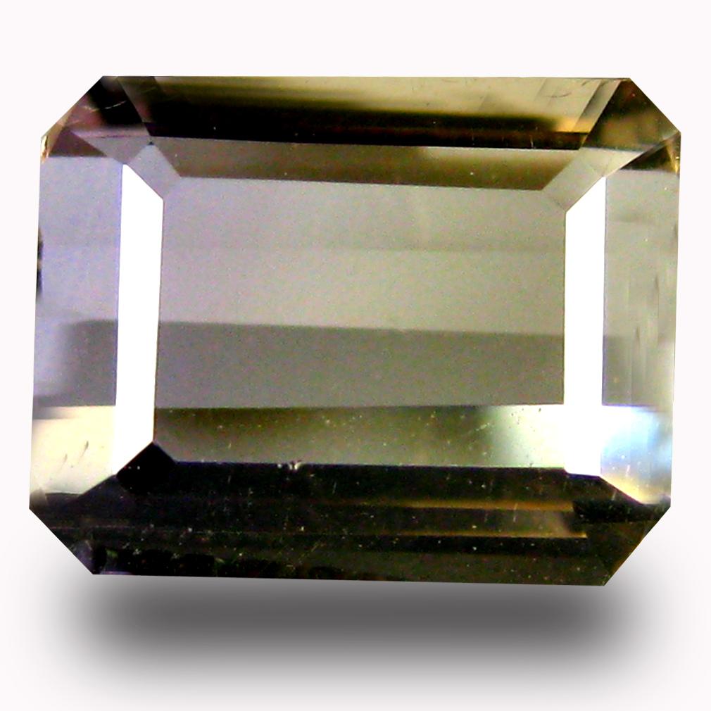 1.63 ct AAA Amazing Octagon Shape (8 x 6 mm) Purple and Yellow Ametrine Natural Gemstone