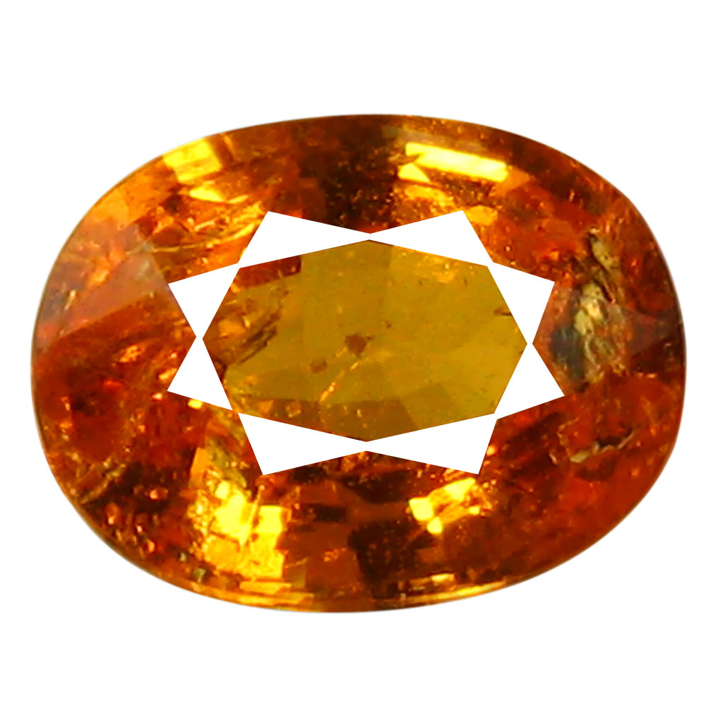 1.74 ct AAA Spectacular Oval Shape (8 x 6 mm) Fanta Orange Spessartine Natural Gemstone