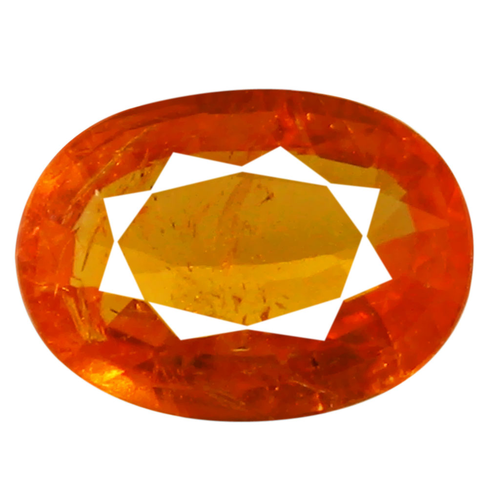 1.26 ct AAA Superb Oval Shape (8 x 6 mm) Fanta Orange Spessartine Natural Gemstone