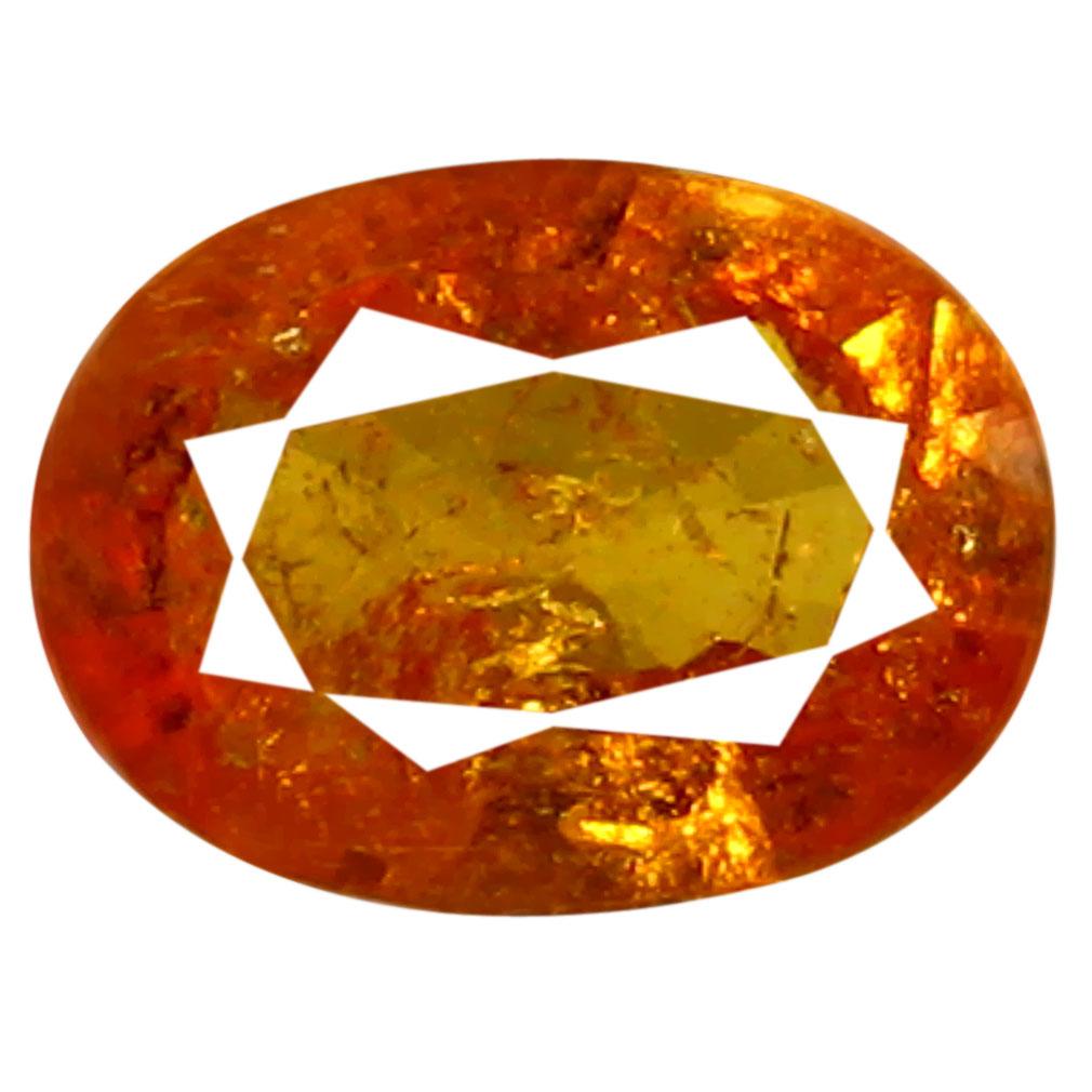 0.92 ct AAA Supreme Oval Shape (7 x 5 mm) Fanta Orange Spessartine Natural Gemstone