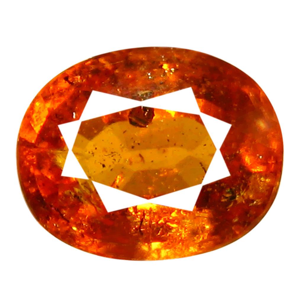 2.14 ct AAA Romantic Oval Shape (8 x 7 mm) Fanta Orange Spessartine Natural Gemstone
