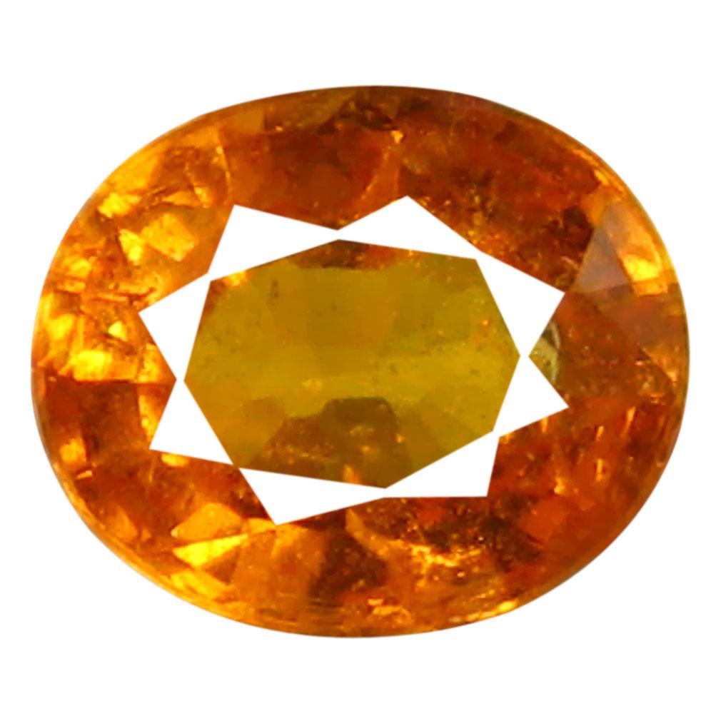 1.32 ct AAA Valuable Oval Shape (7 x 6 mm) Fanta Orange Spessartine Natural Gemstone