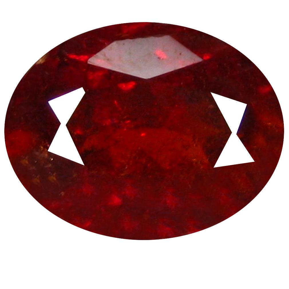 2.76 ct  Awe-inspiring Oval Shape (9 x 7 mm) Orangy Red Spessartine Natural Gemstone