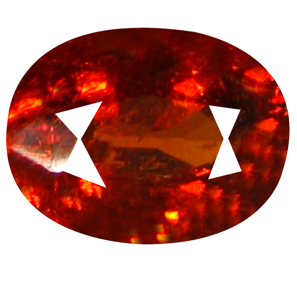 1.04 ct  Amazing Oval Shape (7 x 5 mm) Orangy Red Spessartine Natural Gemstone