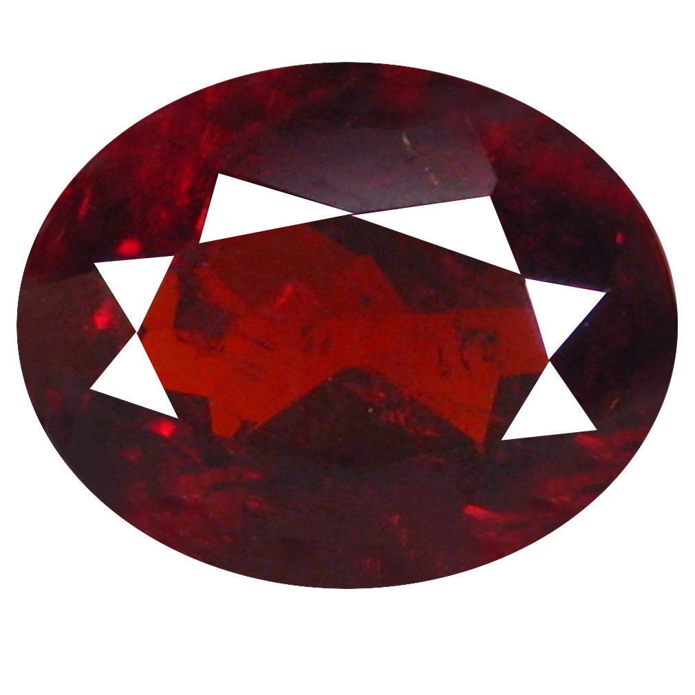 1.69 ct  Amazing Oval Shape (8 x 6 mm) Orangy Red Spessartine Natural Gemstone