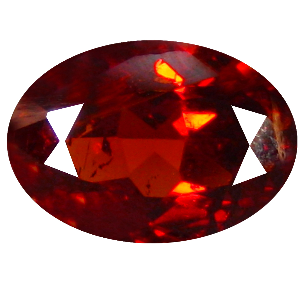 1.43 ct  Fabulous Oval Shape (8 x 6 mm) Orangy Red Spessartine Natural Gemstone