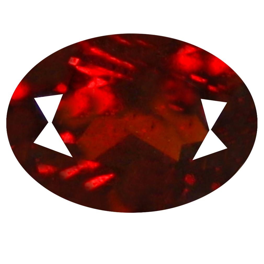 0.68 ct  Superb Oval Shape (6 x 4 mm) Orangy Red Spessartine Natural Gemstone