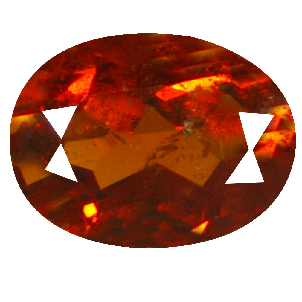 2.25 ct  Exquisite Oval Shape (9 x 6 mm) Orangy Red Spessartine Natural Gemstone