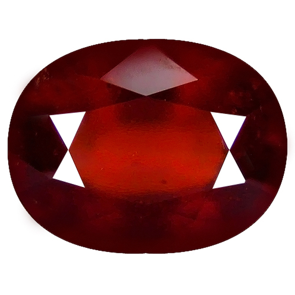 1.59 ct  Fair Oval Shape (8 x 6 mm) Orangy Red Spessartine Natural Gemstone