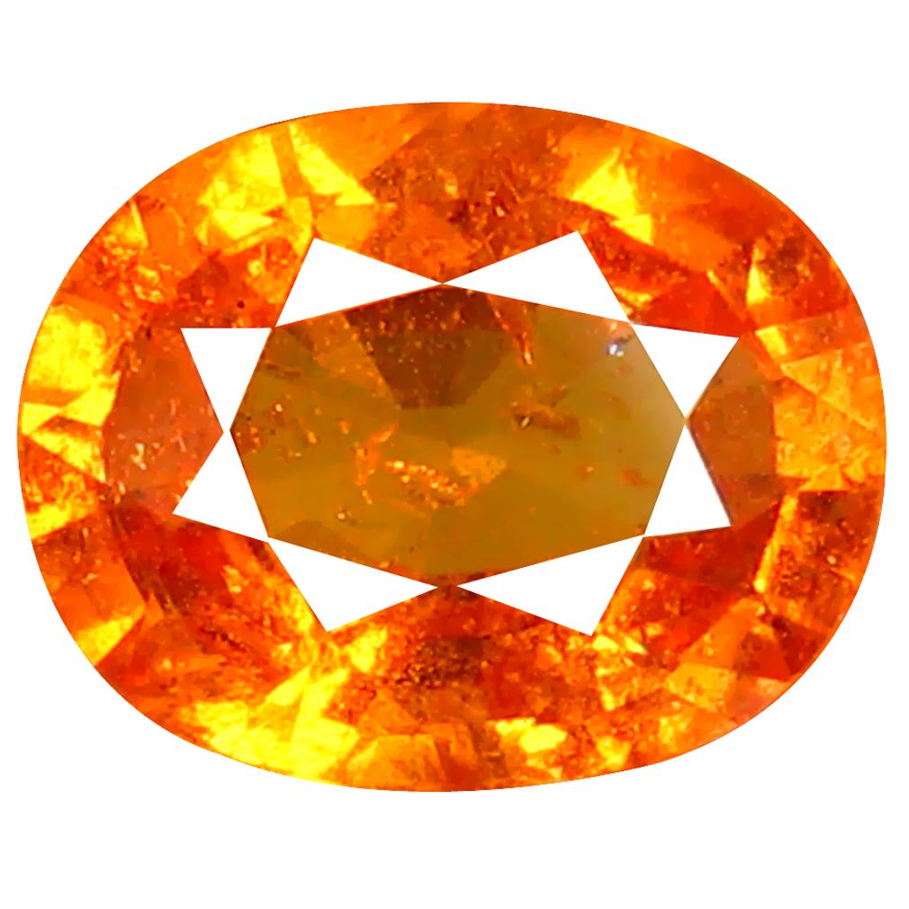 1.45 ct AAA+ Beautiful Oval Shape (8 x 6 mm) Fanta Orange Spessartine Natural Gemstone