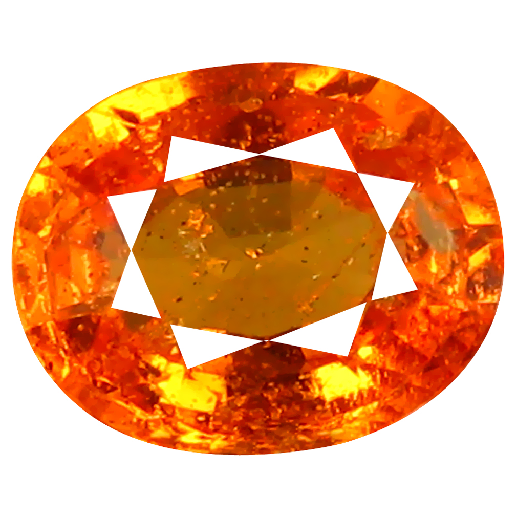 1.27 ct AAA+ Beautiful Oval Shape (7 x 6 mm) Fanta Orange Spessartine Natural Gemstone