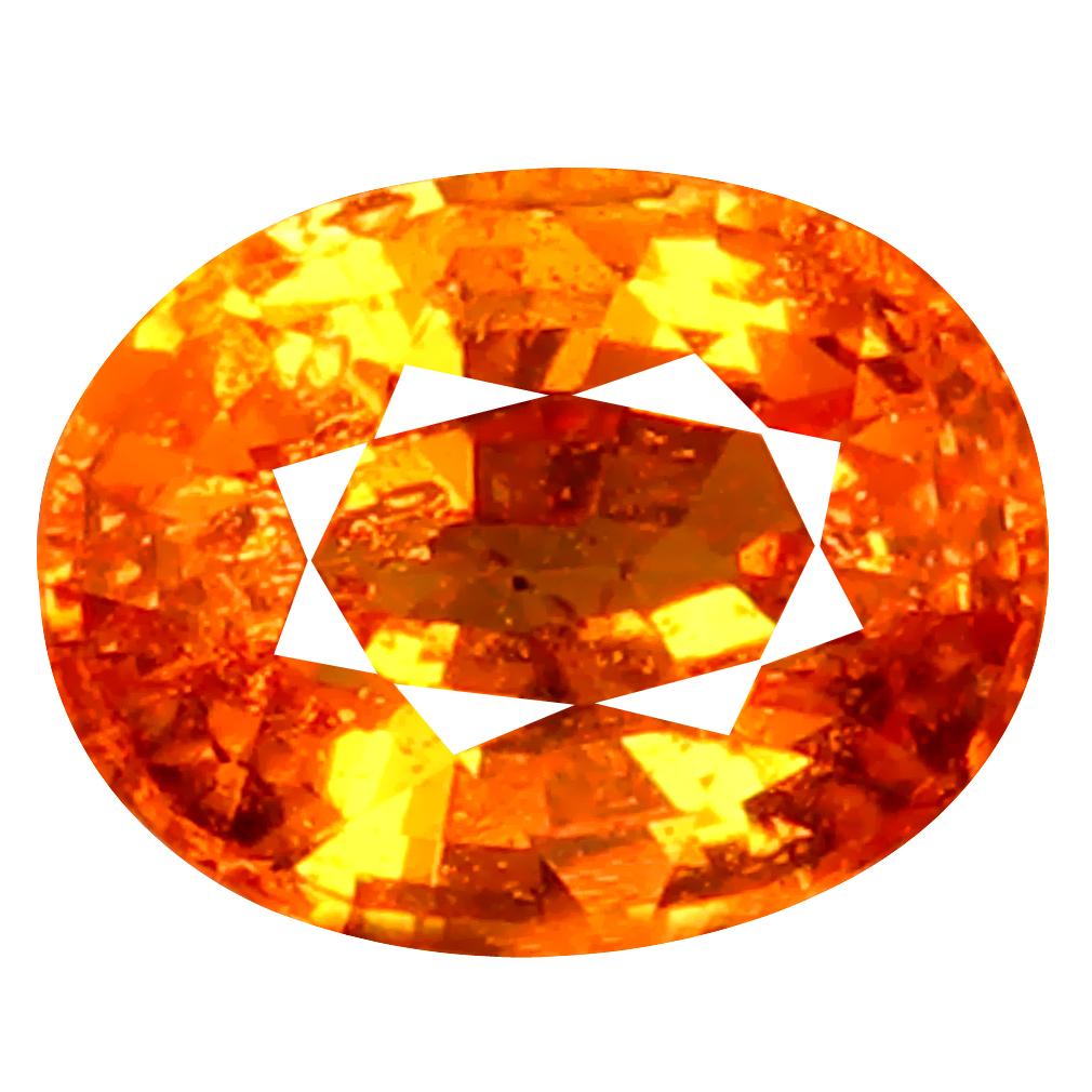 1.02 ct AAA+ Romantic Oval Shape (6 x 5 mm) Fanta Orange Spessartine Natural Gemstone