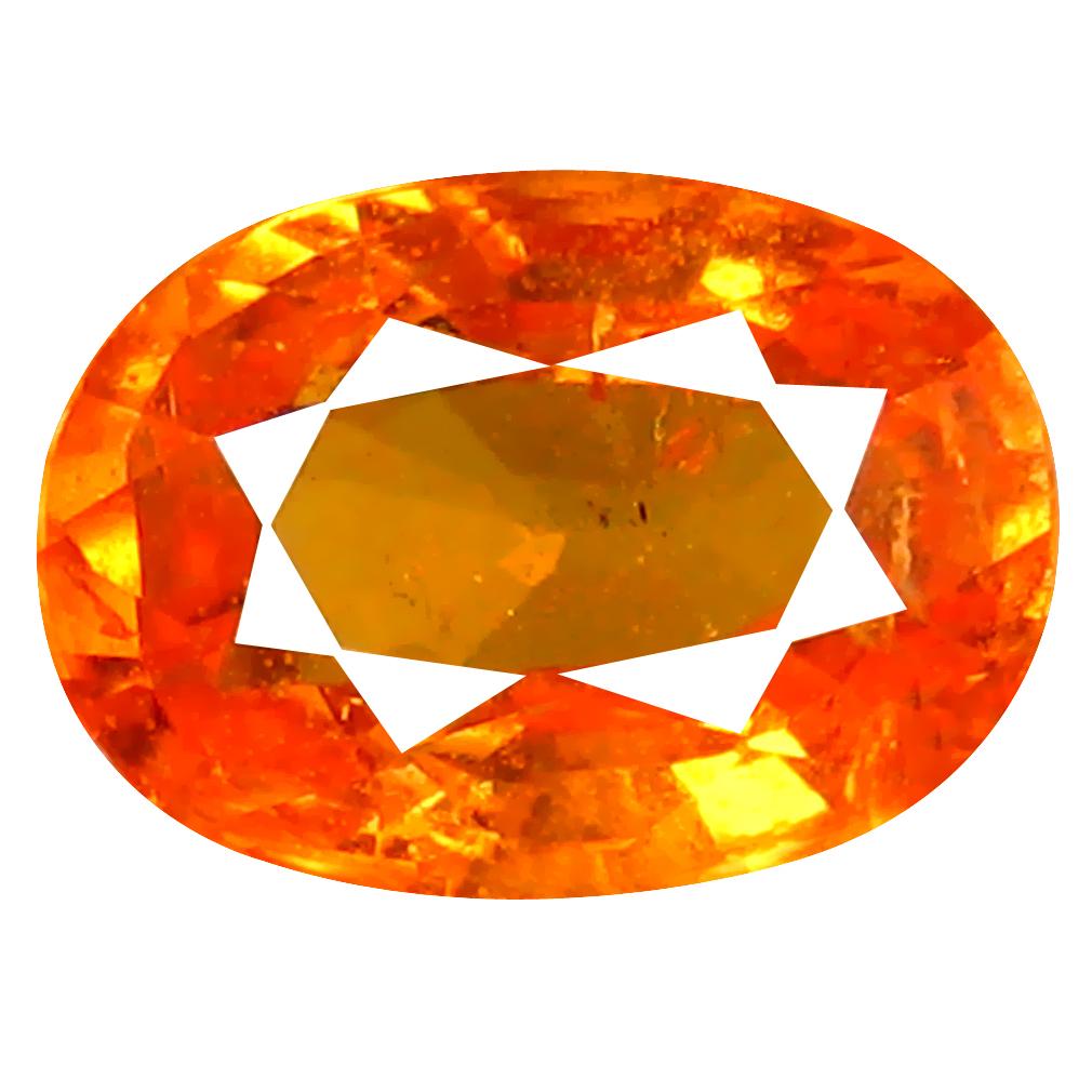 1.35 ct AAA+ Eye-opening Oval Shape (7 x 5 mm) Fanta Orange Spessartine Natural Gemstone