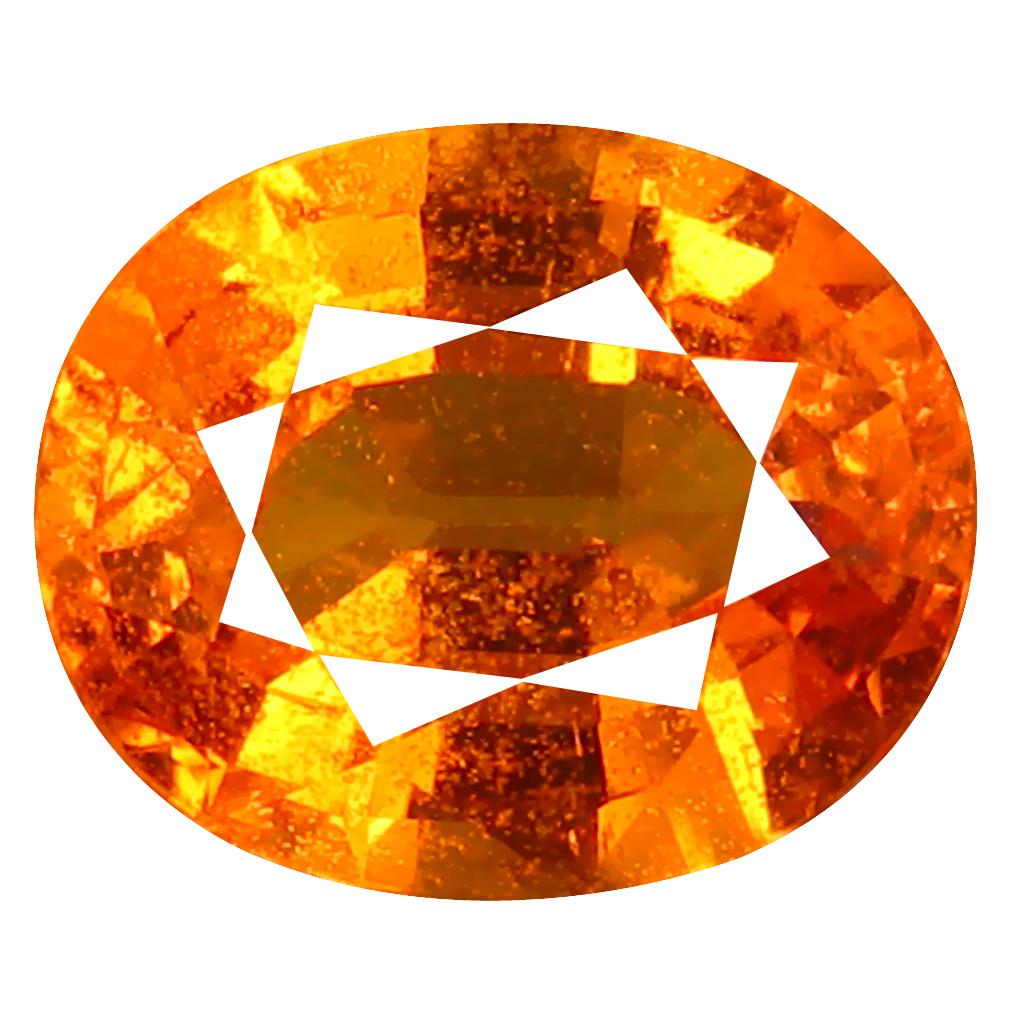 1.98 ct AAA+ Wonderful Oval Shape (8 x 7 mm) Fanta Orange Spessartine Natural Gemstone