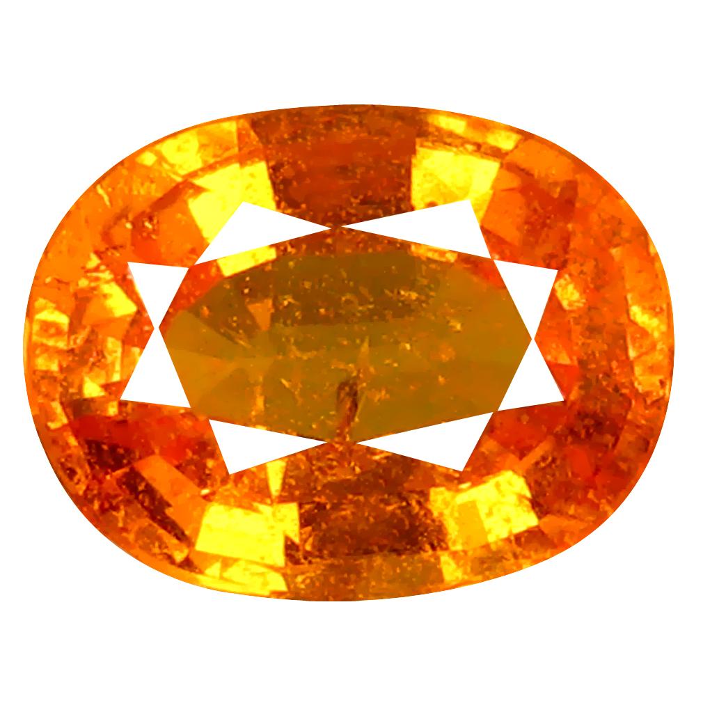 1.62 ct AAA+ Incredible Oval Shape (8 x 6 mm) Fanta Orange Spessartine Natural Gemstone