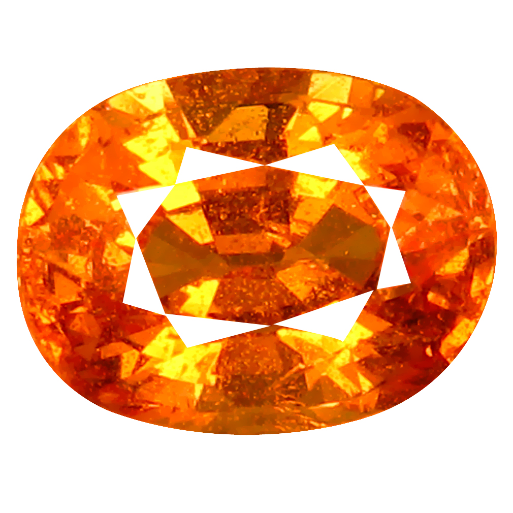 1.80 ct AAA+ Fantastic Oval Shape (8 x 6 mm) Fanta Orange Spessartine Natural Gemstone