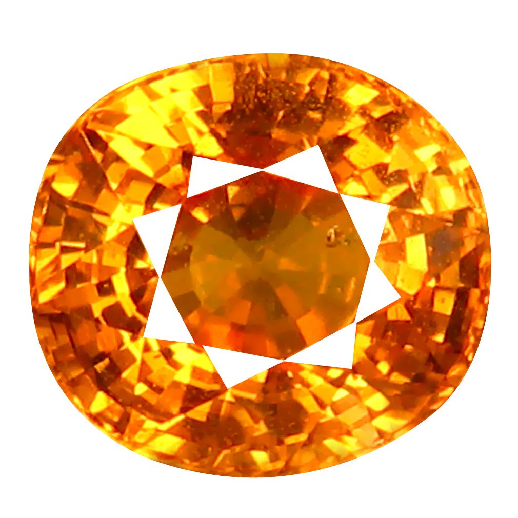 1.34 ct AAA+ Fantastic Oval Shape (6 x 6 mm) Fanta Orange Spessartine Natural Gemstone