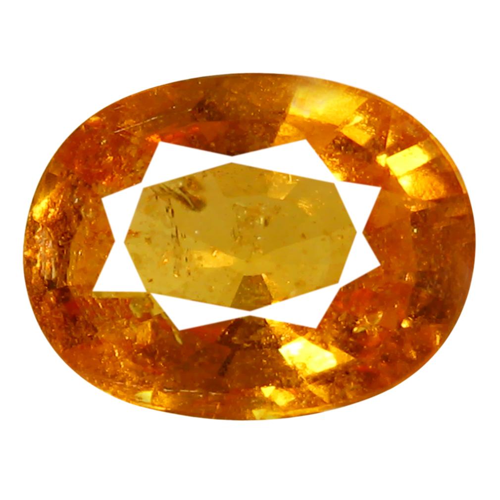 1.35 ct AAA Tremendous Oval Shape (8 x 6 mm) Fanta Orange Spessartine Natural Gemstone