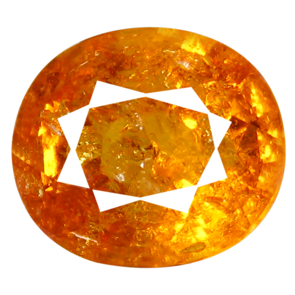 1.60 ct AAA Eye-catching Oval Shape (7 x 6 mm) Fanta Orange Spessartine Natural Gemstone