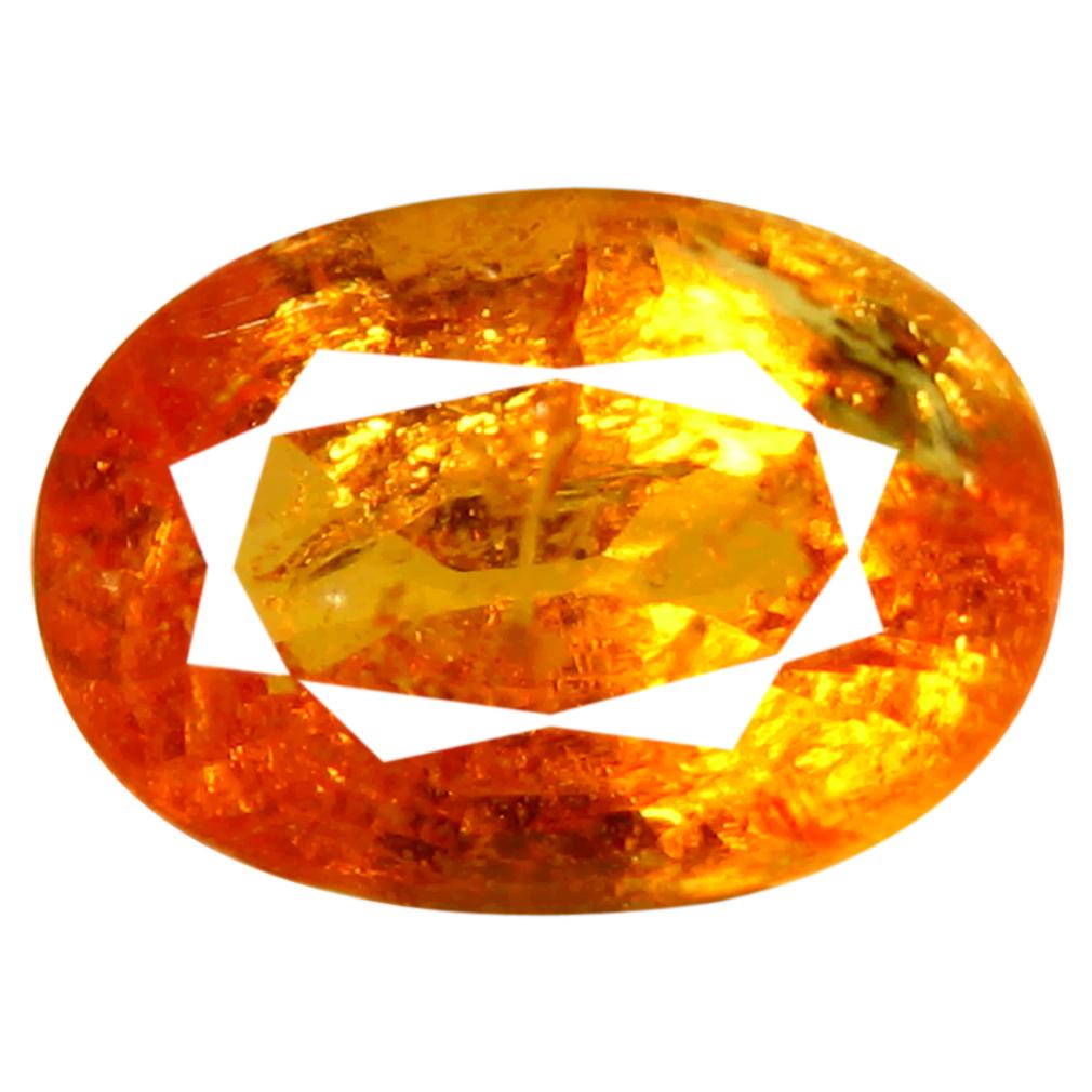 1.13 ct AAA Wonderful Oval Shape (7 x 5 mm) Fanta Orange Spessartine Natural Gemstone