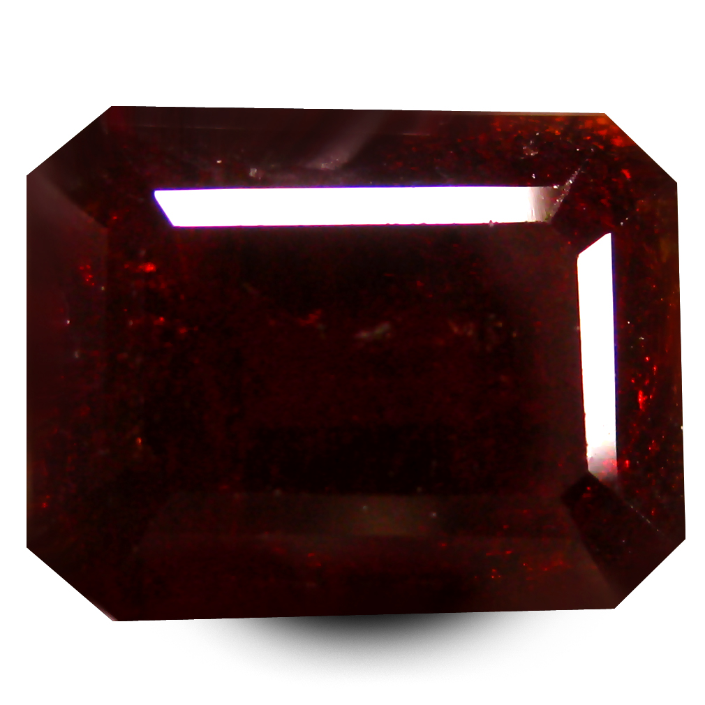 7.73 ct  Flashing Octagon Shape (11 x 9 mm) Orangy Red Spessartine Natural Gemstone