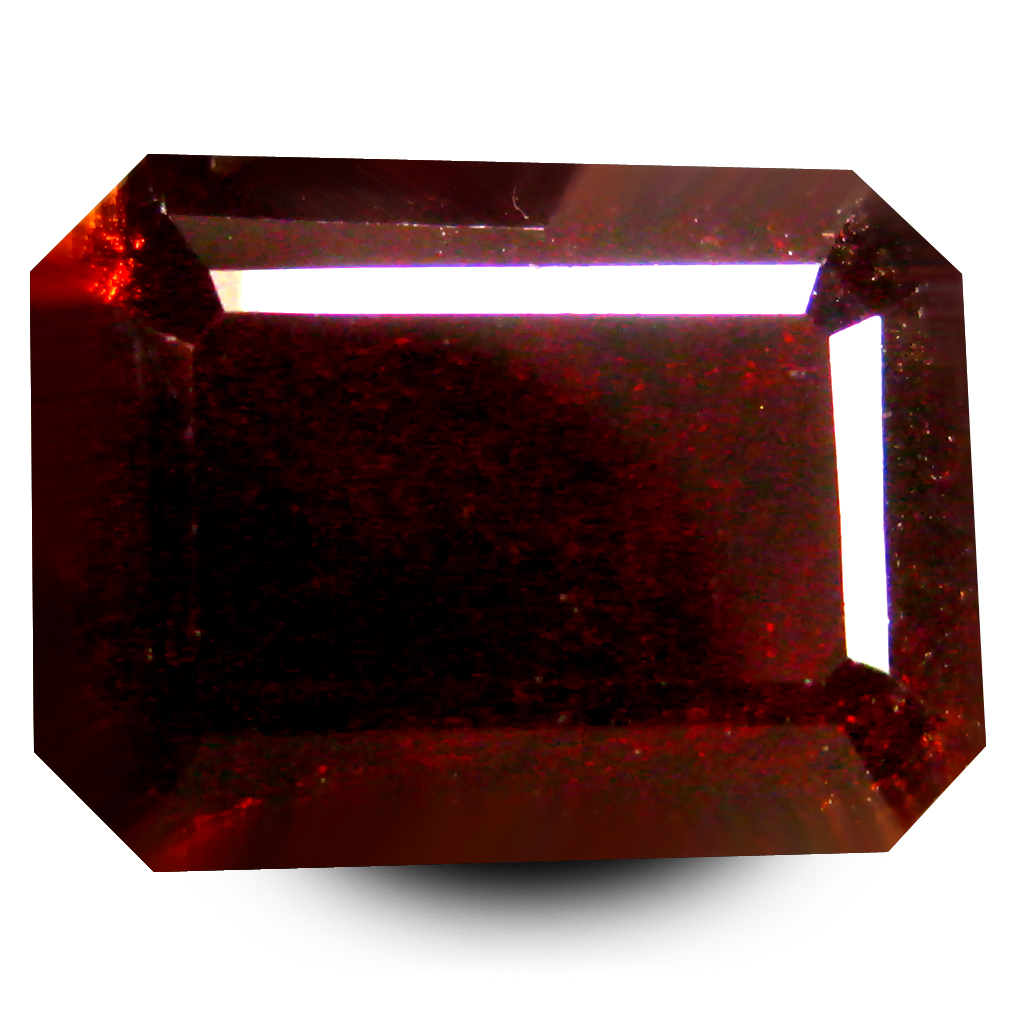 6.65 ct  Fabulous Octagon Shape (11 x 8 mm) Orangy Red Spessartine Natural Gemstone