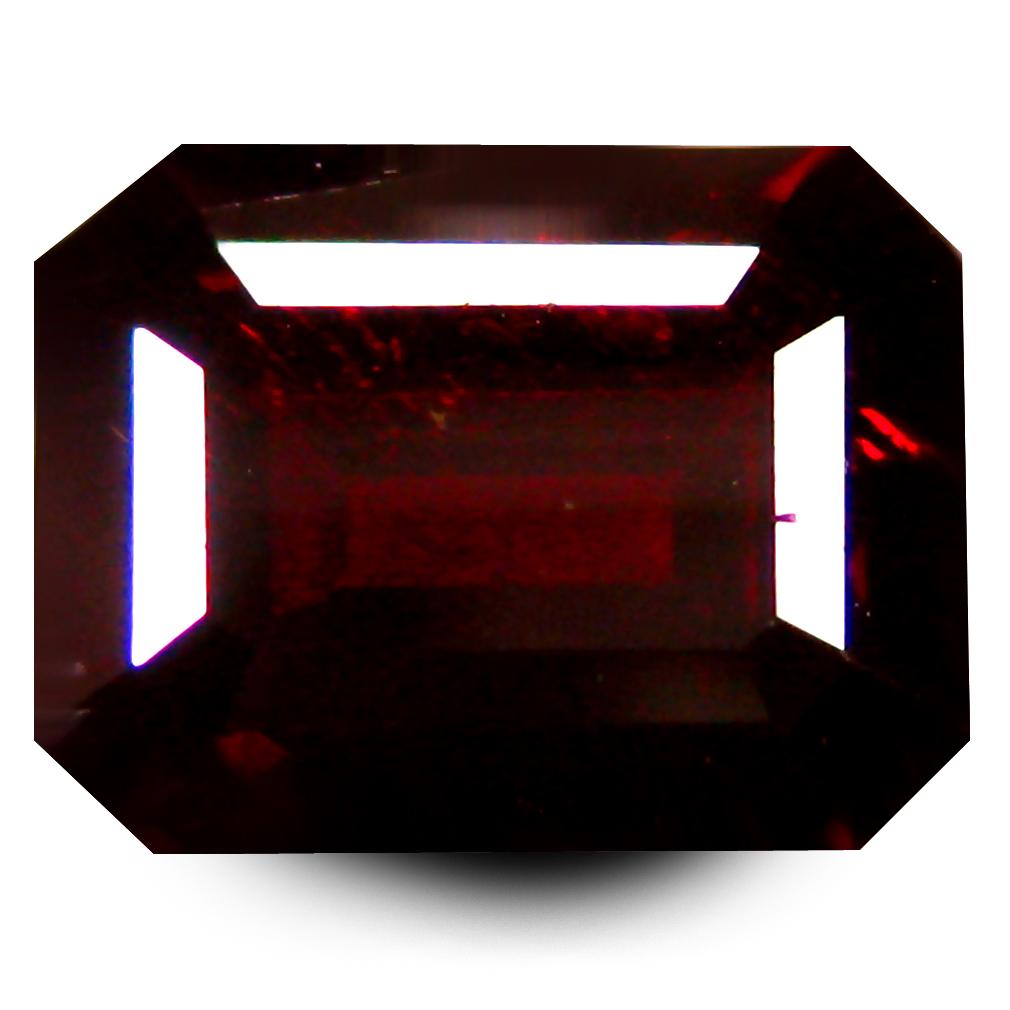 2.33 ct  Shimmering Octagon Shape (8 x 6 mm) Orangy Red Spessartine Natural Gemstone