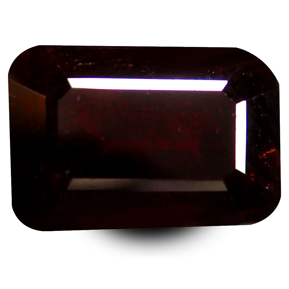 3.12 ct  Sparkling Octagon Shape (9 x 6 mm) Orangy Red Spessartine Natural Gemstone