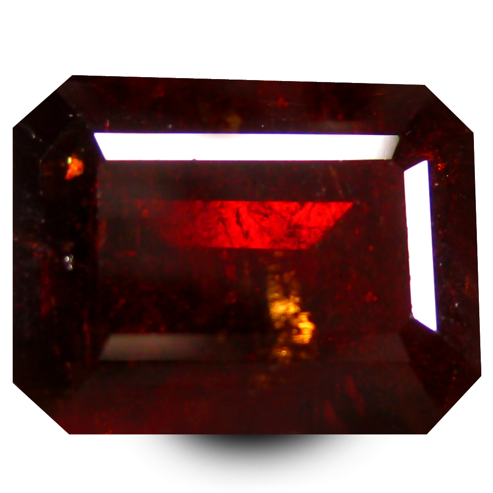 7.35 ct  Wonderful Octagon Shape (11 x 9 mm) Orangy Red Spessartine Natural Gemstone