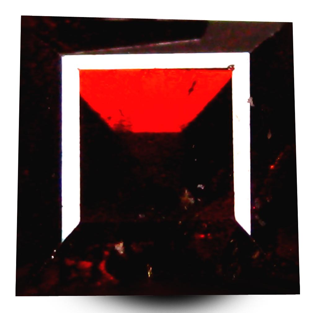 1.35 ct  Pretty Octagon Shape (6 x 6 mm) Orangy Red Spessartine Natural Gemstone