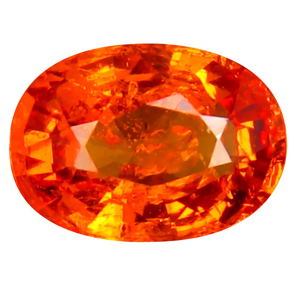 1.68 ct Pretty Oval Cut (8 x 6 mm) Namibia Fanta Orange Spessartine Natural Gemstone
