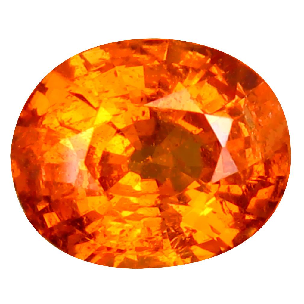 1.74 ct Shimmering Oval Cut (8 x 6 mm) Namibia Fanta Orange Spessartine Natural Gemstone