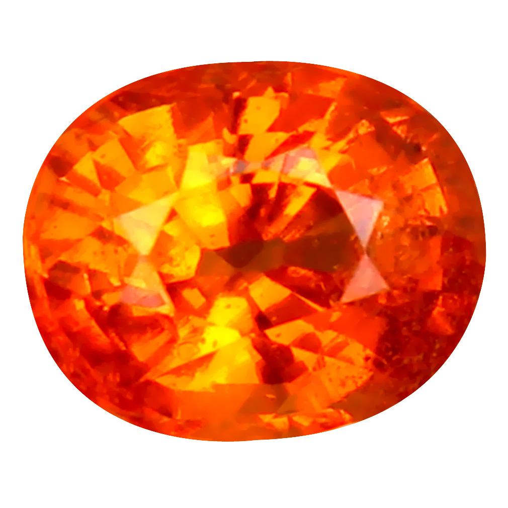 1.25 ct Lovely Oval Cut (6 x 5 mm) Namibia Fanta Orange Spessartine Natural Gemstone