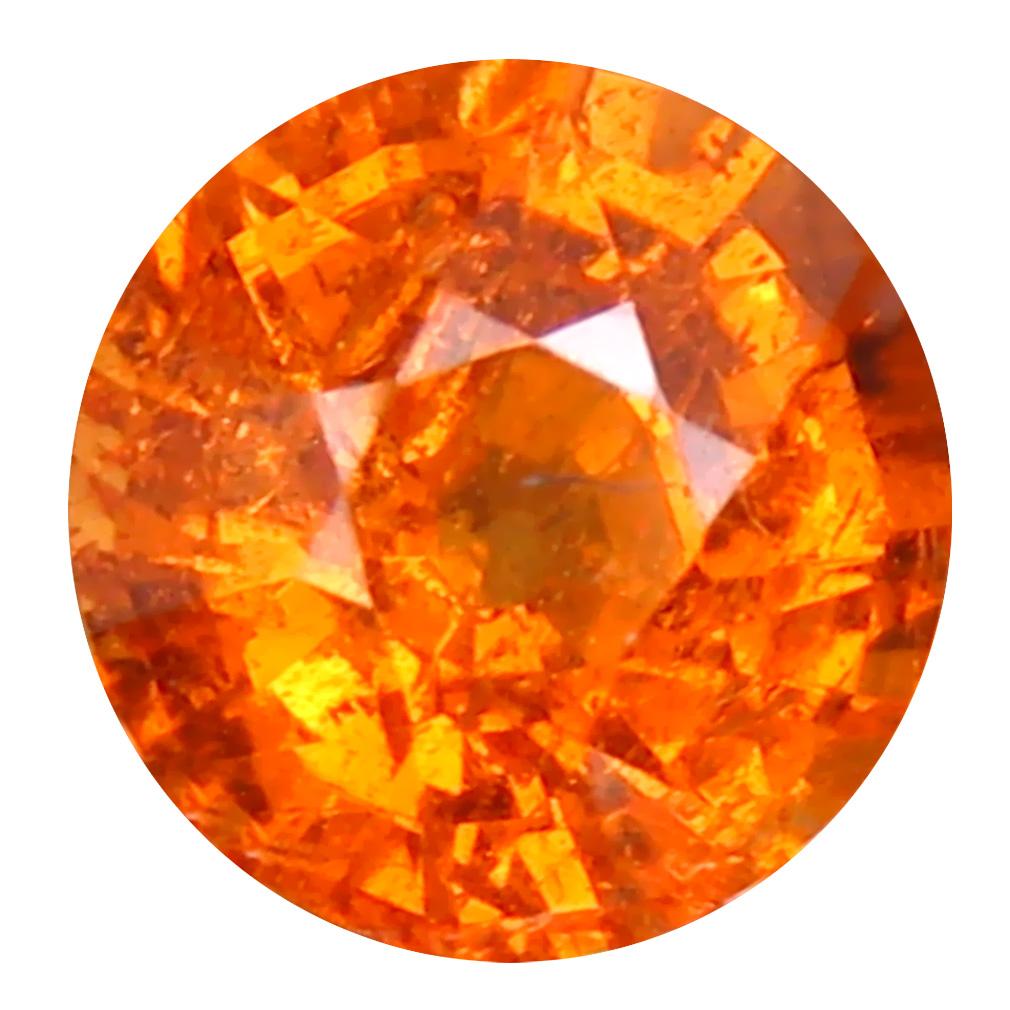 1.50 ct Magnificent fire Round Cut (6 x 6 mm) Namibia Fanta Orange Spessartine Natural Gemstone