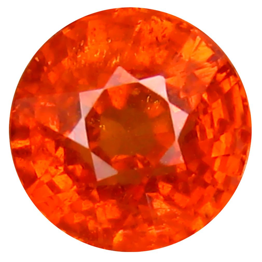 1.19 ct Amazing Round Cut (6 x 5 mm) Namibia Fanta Orange Spessartine Natural Gemstone