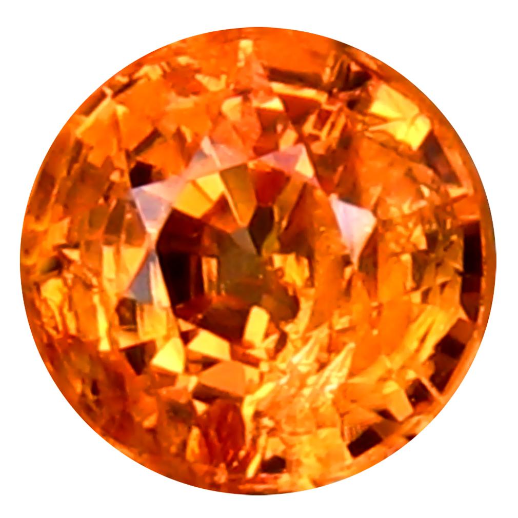 0.86 ct Splendid Round Cut (5 x 5 mm) Namibia Fanta Orange Spessartine Natural Gemstone