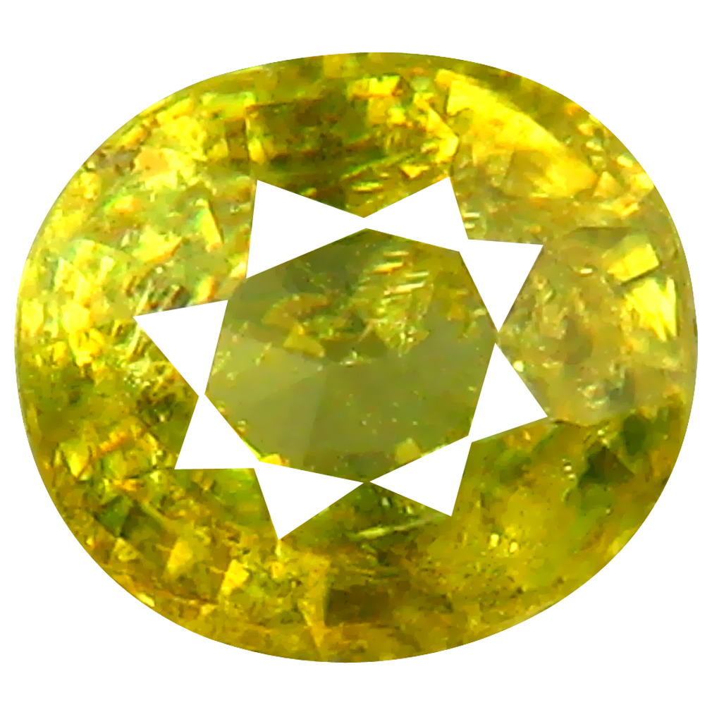 1.21 ct Amazing Oval Cut (7 x 6 mm) Pakistan Green Sphene Natural Gemstone