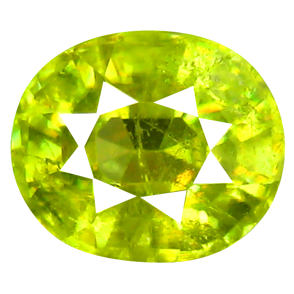 1.44 ct Incredible Oval Cut (7 x 6 mm) Pakistan Green Sphene Natural Gemstone