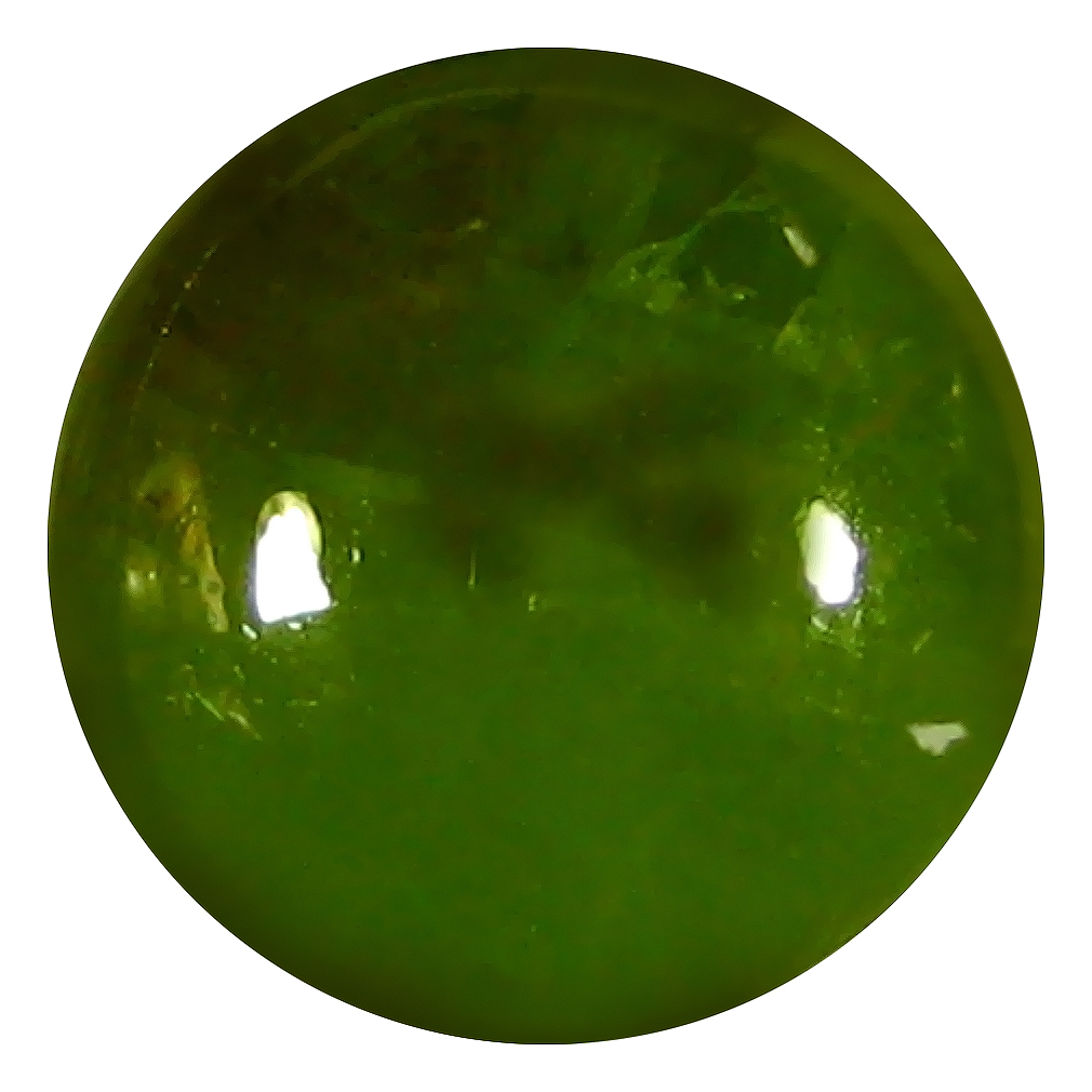 5.91 ct  Magnificent fire Round Cabochon Shape (10 x 10 mm) Green Sphene Natural Gemstone