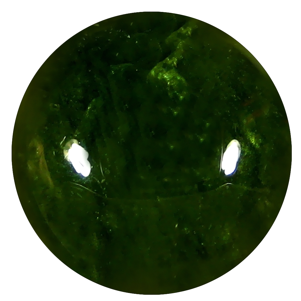 19.97 ct  Outstanding Round Cabochon Shape (15 x 15 mm) Green Sphene Natural Gemstone