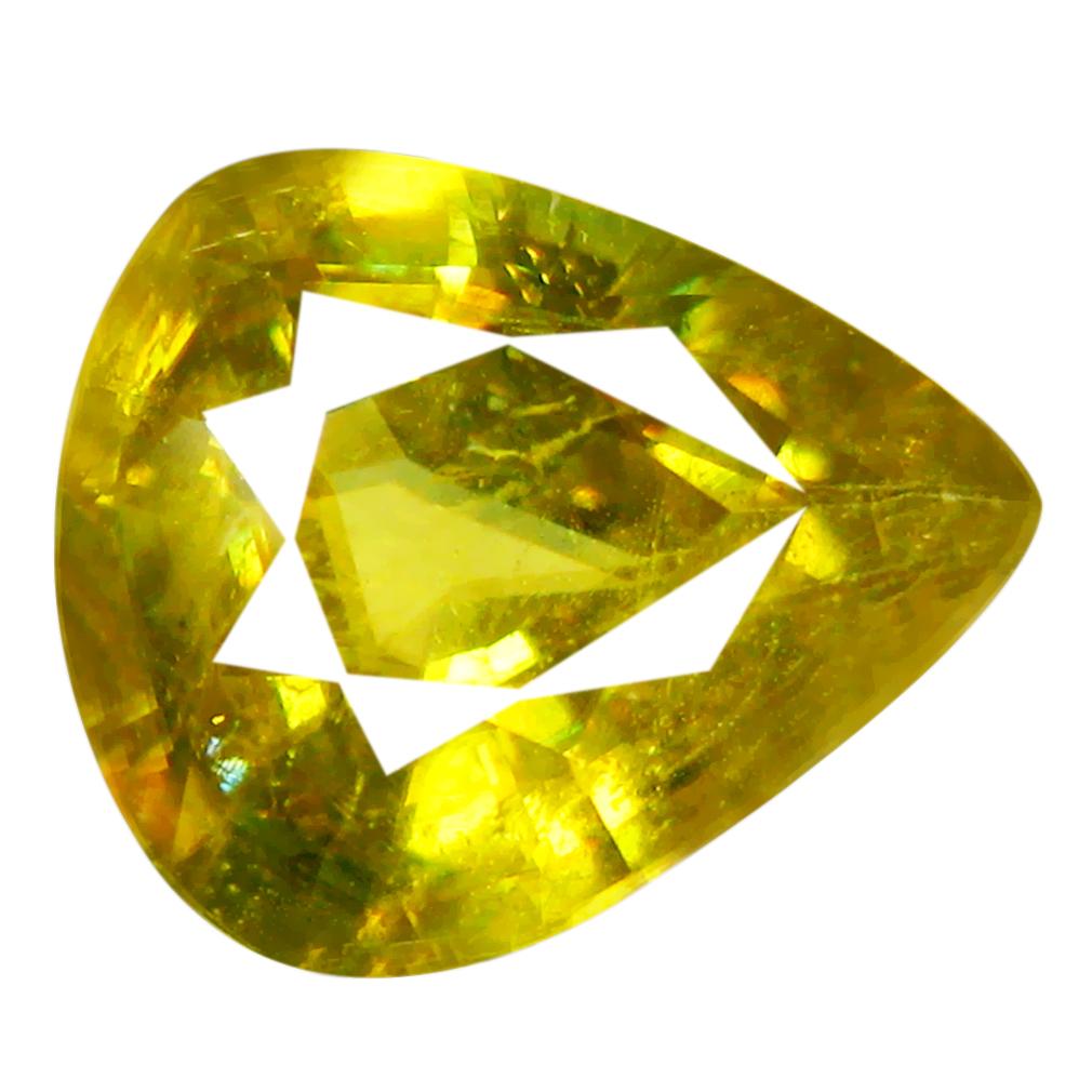 2.14 ct World class Pear Cut (9 x 8 mm) Pakistan Yellownish Green Sphene Natural Gemstone