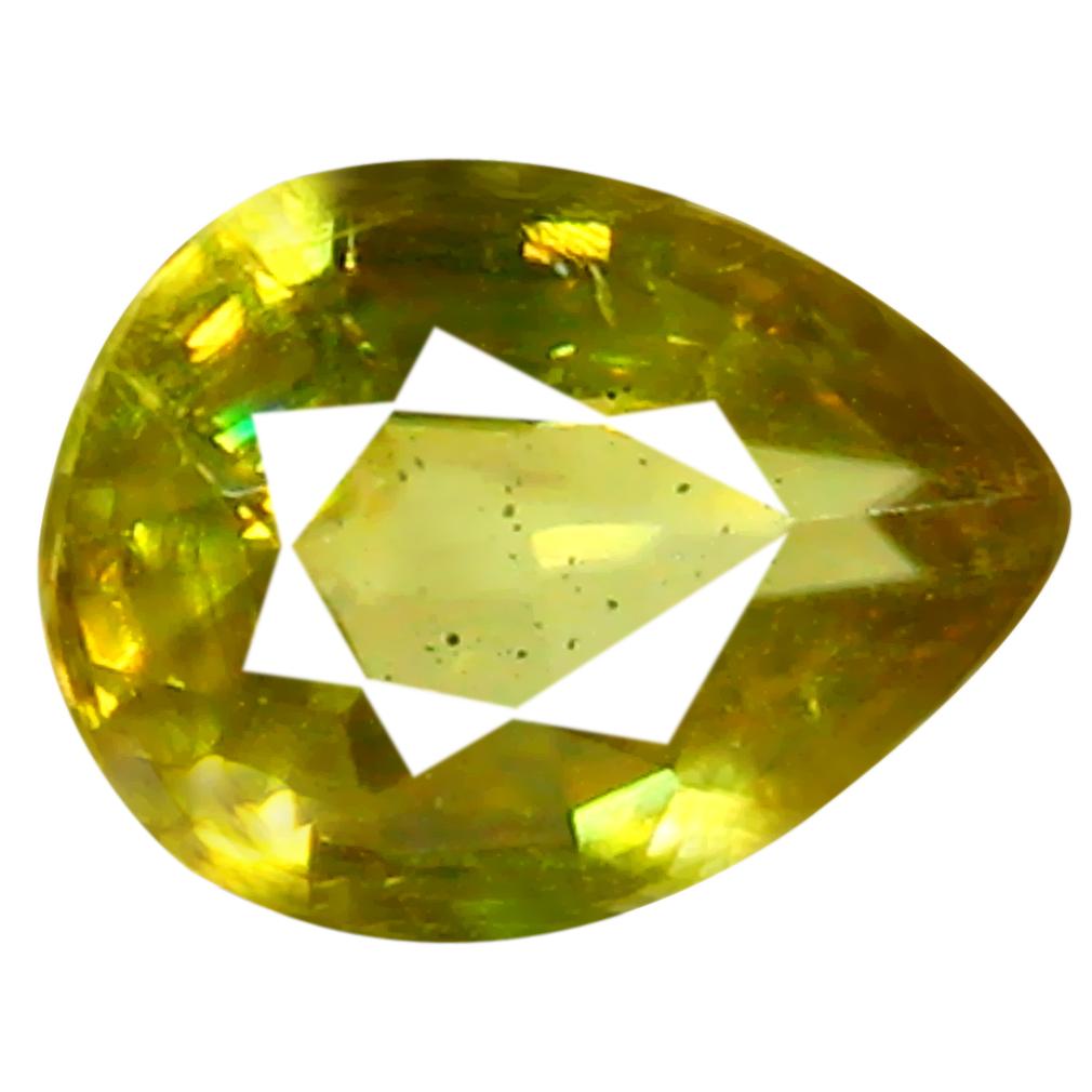 0.69 ct Gorgeous Pear Cut (7 x 5 mm) Pakistan Yellownish Green Sphene Natural Gemstone