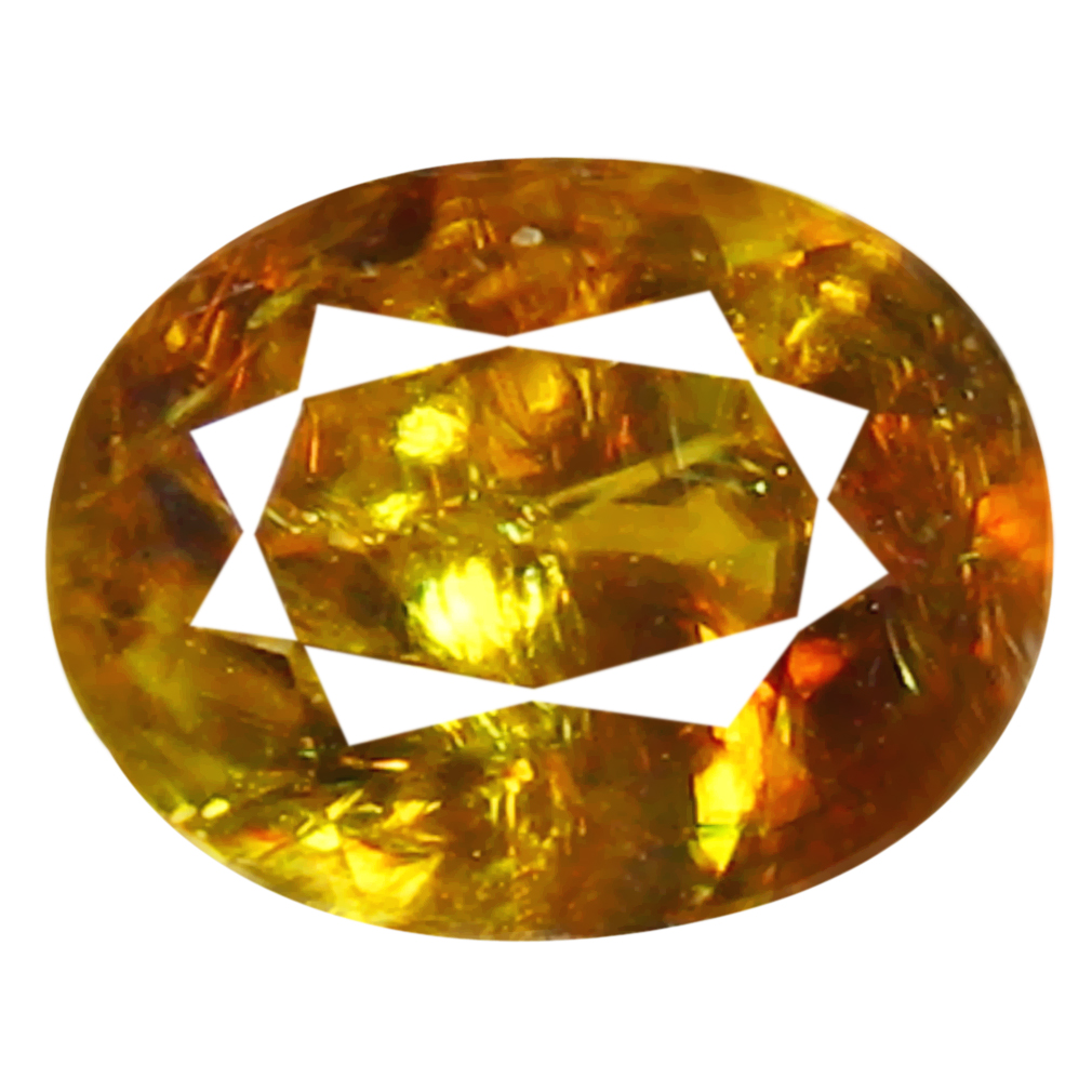 1.29 ct Eye-opening Oval Cut (8 x 6 mm) Pakistan Brownish Yellow Sphene Natural Gemstone