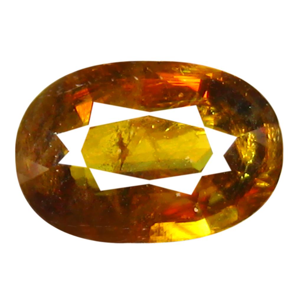 1.77 ct Fantastic Oval Cut (9 x 6 mm) Pakistan Brownish Yellow Sphene Natural Gemstone