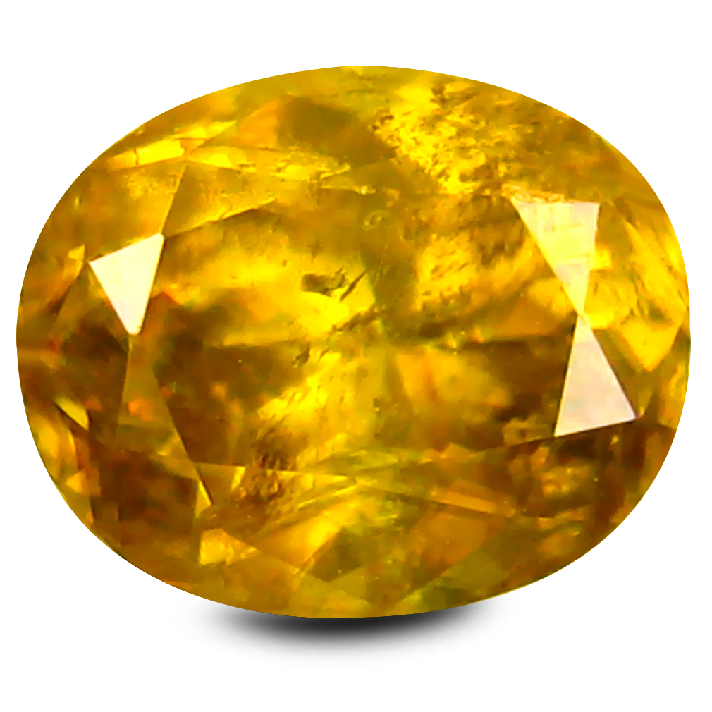 1.45 ct Eye-catching Oval Cut (7 x 6 mm) Brownish Yellow Un-Heated Sphene Natural Gemstone