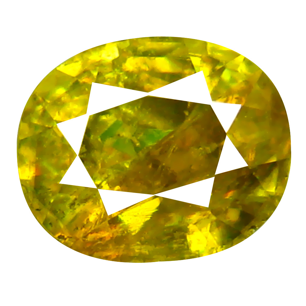 1.18 ct Incomparable Oval Cut (7 x 6 mm) Pakistan Brownish Yellow Sphene Natural Gemstone