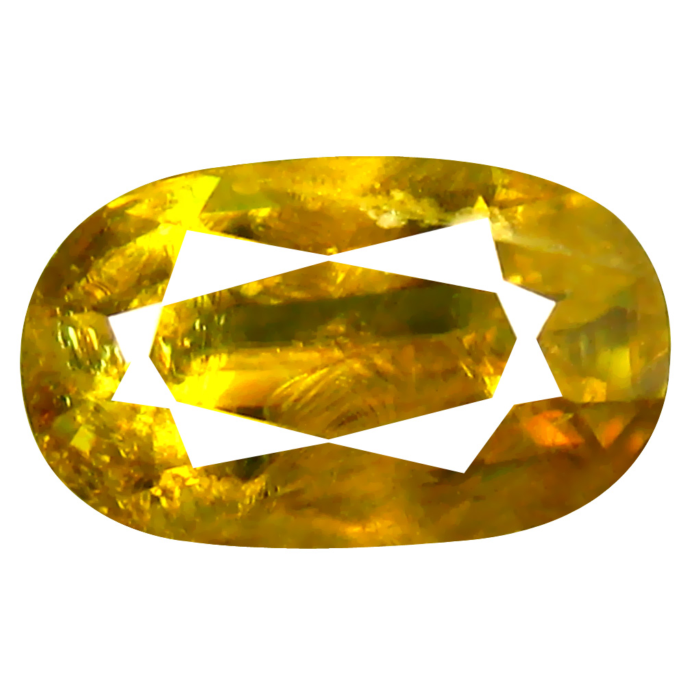 1.30 ct Exquisite Oval Cut (9 x 5 mm) Pakistan Brownish Yellow Sphene Natural Gemstone